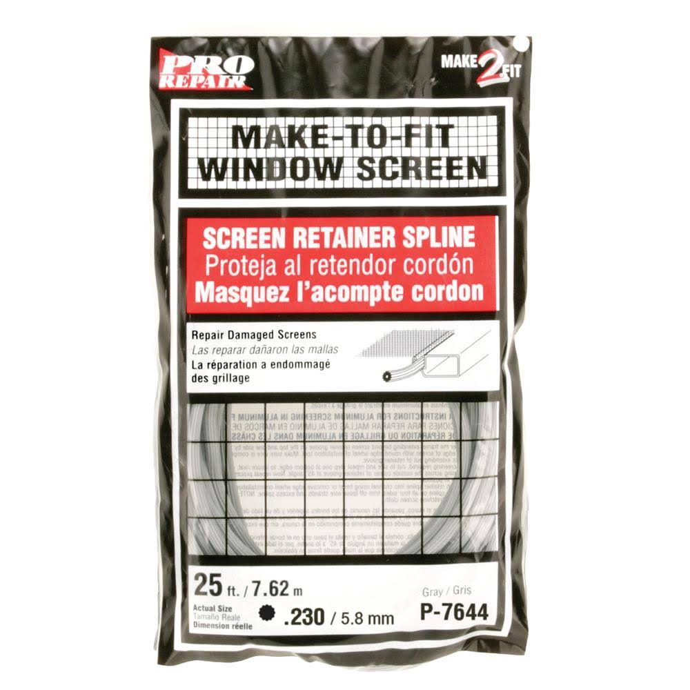 "Prime Line Products Screen Retainer Spline - Gray, 15/64"" x 25'"