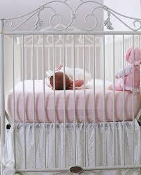 Bratt Decor Crib Skirt by Casablanca Crib Distressed White