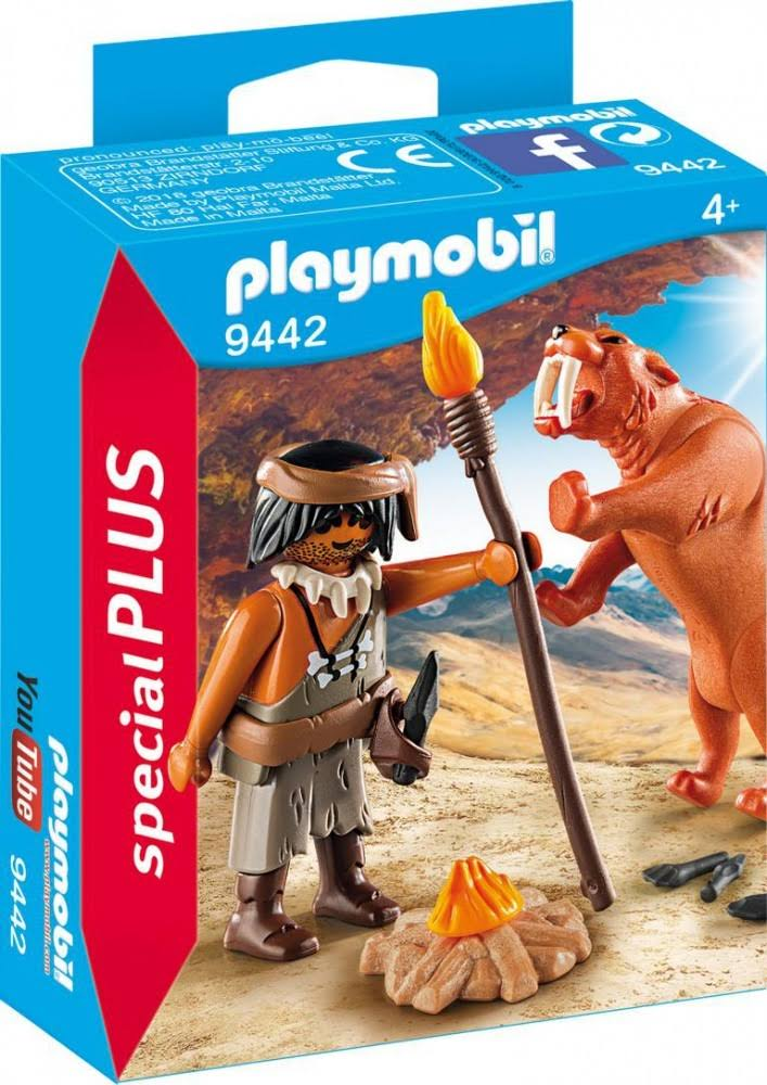 Playmobil Caveman with Sabertooth Tiger Building Set