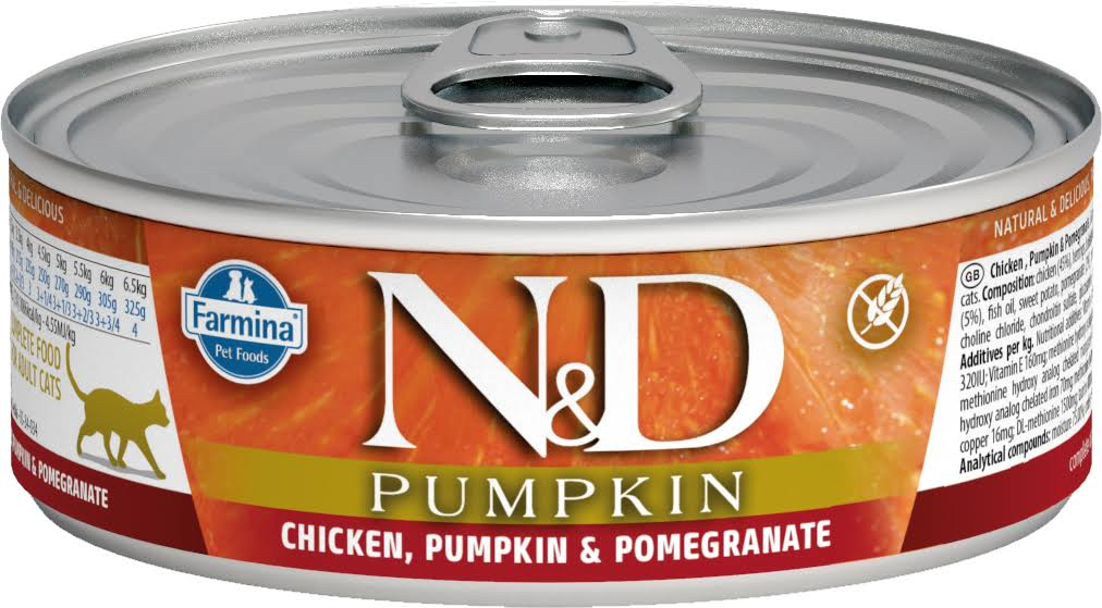 Farmina N&D Pumpkin Cat Food - with Chicken , Pumpkin and Pomegranate, 80g
