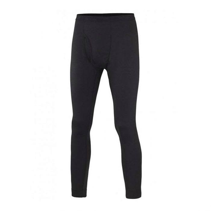 Terramar Men's Sports 2 Layer Authentic Thermal Pants - Black, X-Large