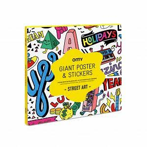 Omy Street Art Giant Coloring Poster & Stickers Set