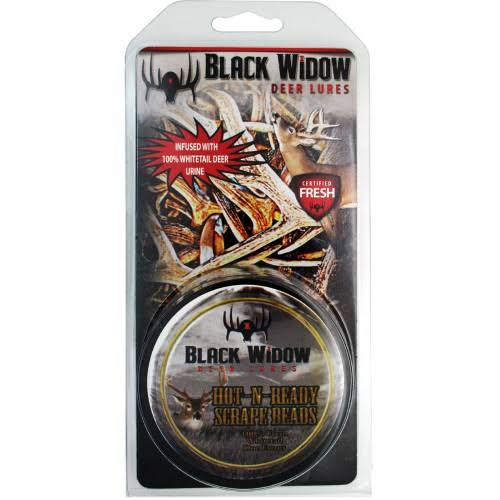 Black Widow Hot N Ready Scrape Beads Deer Lure - 2oz