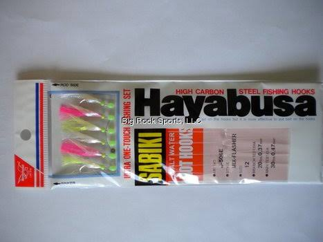 Hayabusa S-506E-12 Mix-Flash Sabiki Hot Hooks Size 12