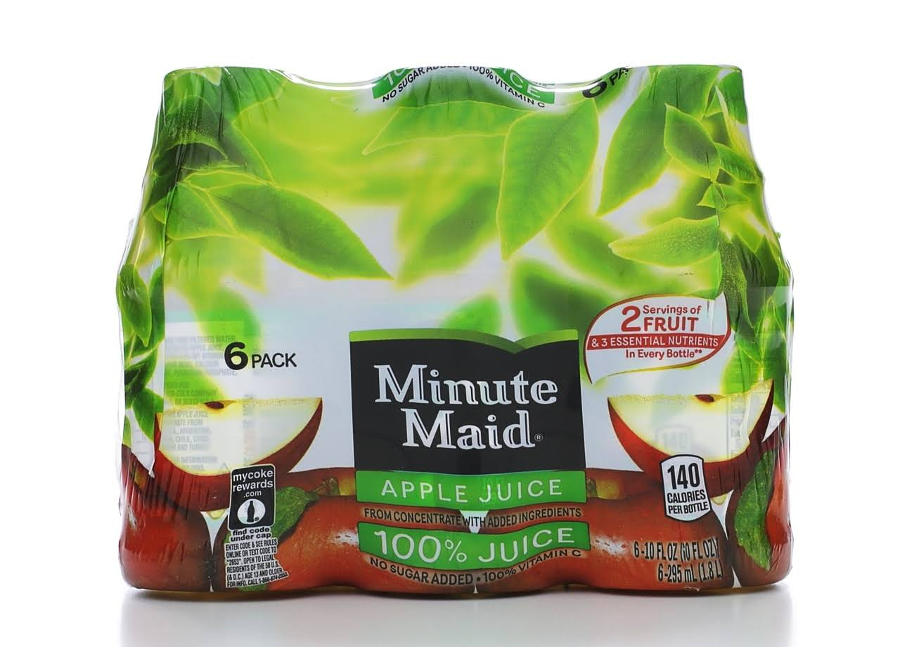 Minute Maid 100% Apple Juice - 10oz, 6ct