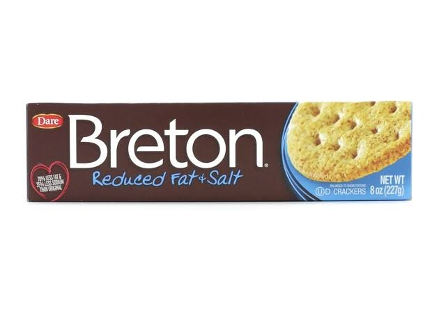 Breton Reduced Fat & Salt Crackers - 8 Oz