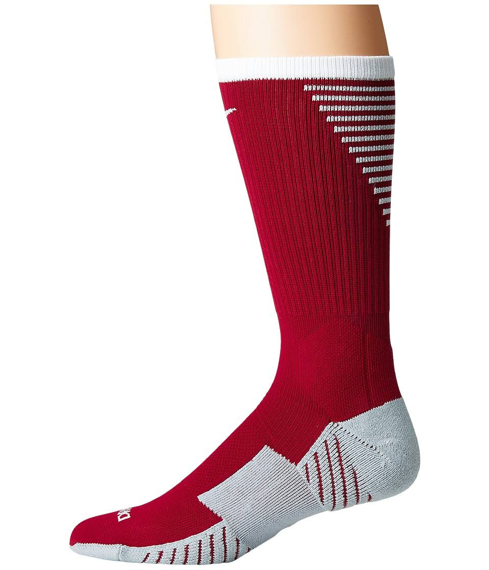 Nike Stadium Football Crew Crew Cut Socks Team Red/White : SM (4-6 Big Kid - Women's Shoe 4-6)
