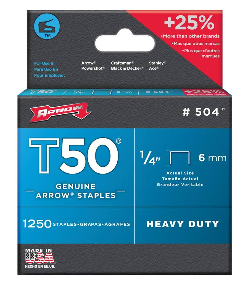 Arrow T50 Staples Box - 6mm