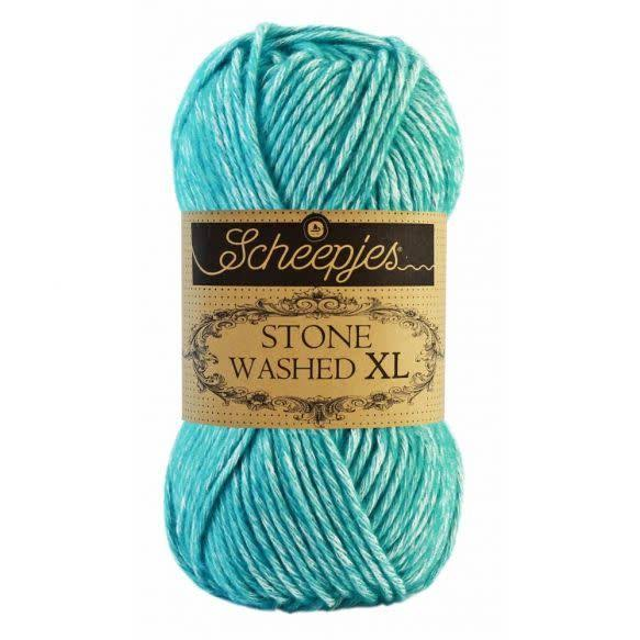 Scheepjes - Stone Washed XL Yarn, Color 864 - Turquoise