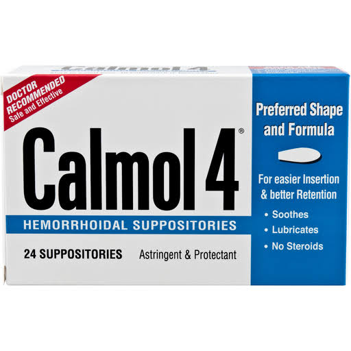 Calmol 4 Hemorrhoidal Suppositories - 24 suppositories
