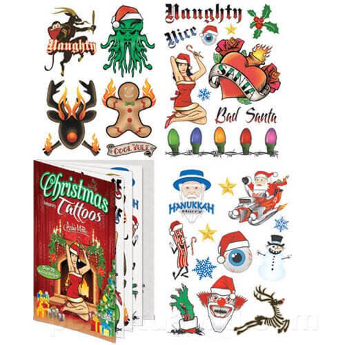 Accoutrements Christmas Tattoos