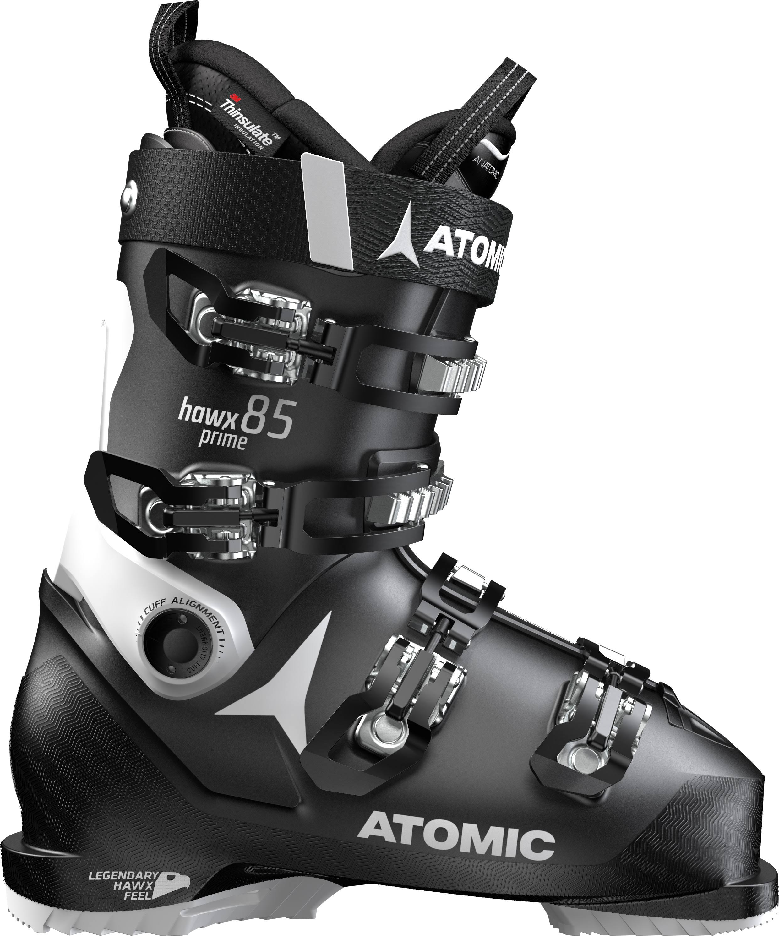 Atomic Hawx Prime 85 W Ski Boots - Black/White, EU34.5, 220mm