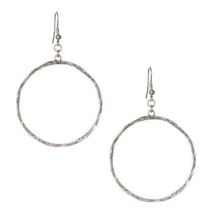 Jwest and Company Womens J West Circle Outline Earrings Silver