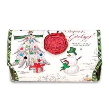Michel Design Works Season's Greetings Large Bath Soap Bar