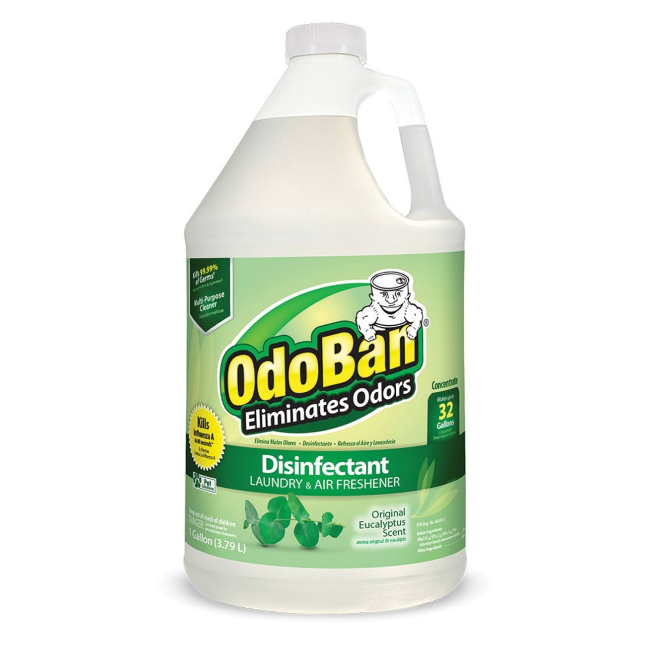 Odoban Odor Eliminator and Disinfectant - Eucalyptus Scent, 1 Gallon