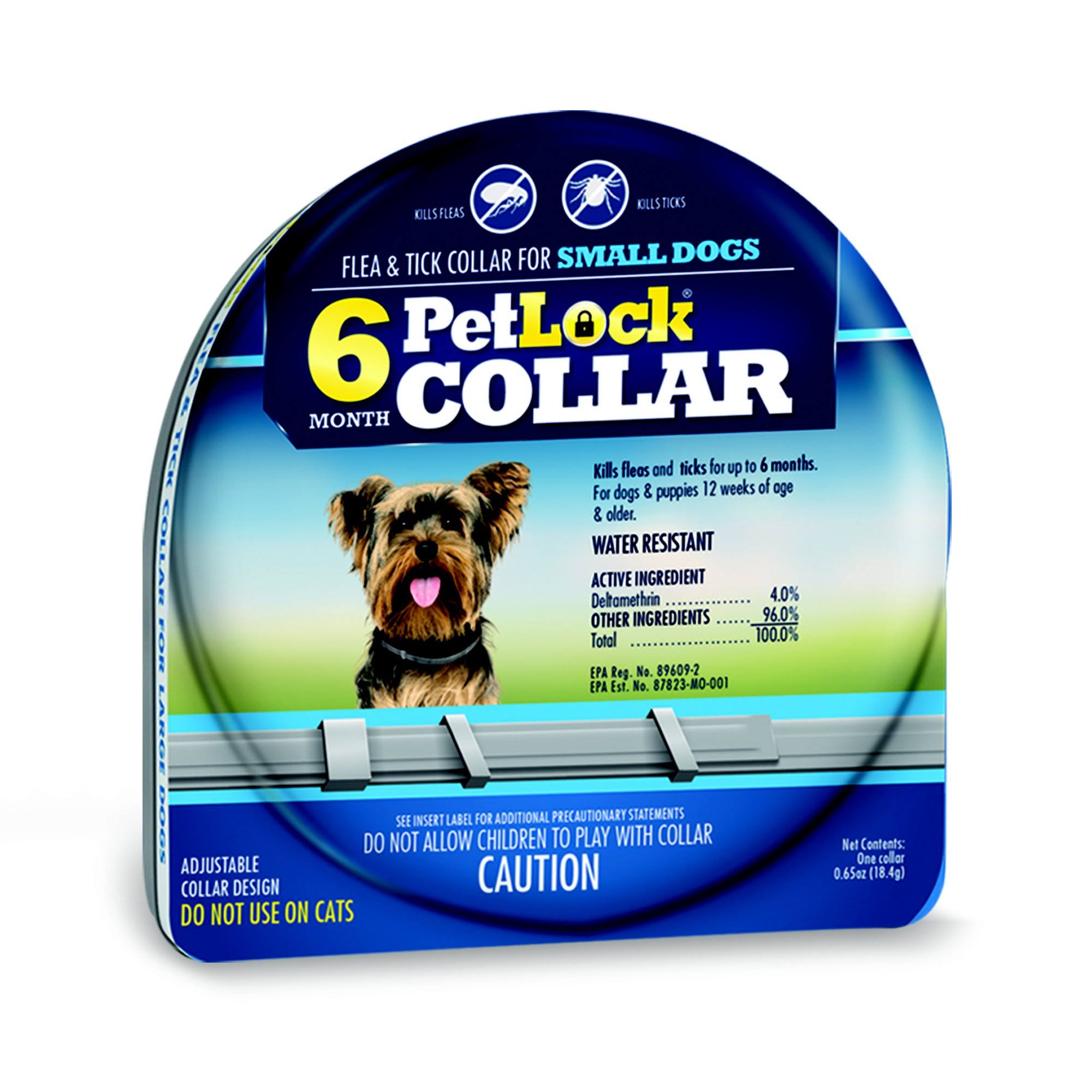 PetLock Flea and Tick Collar for Small Dogs - Adjustable