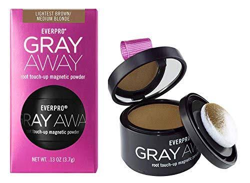Everpro Gray Away Temporary Root Concealer Root Touch Up Magnetic Powder - Light Brown and Medium Blonde, 0.13oz