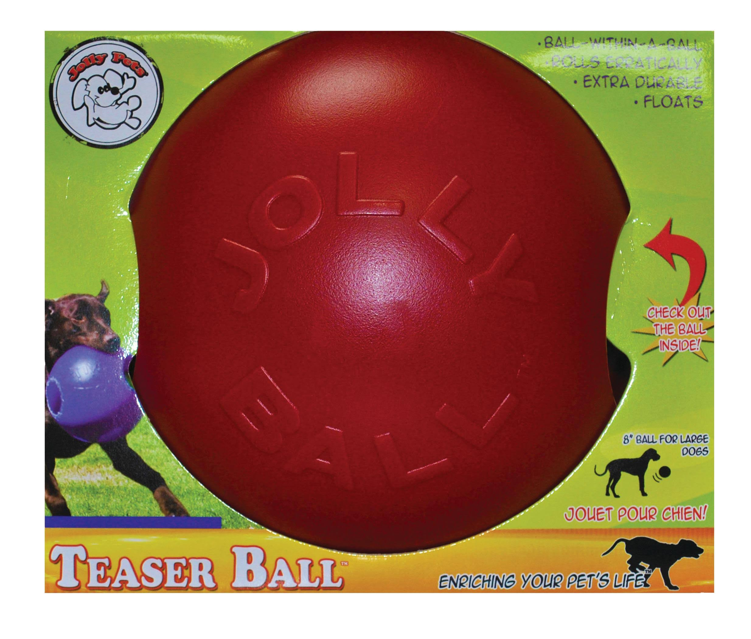 Jolly Pets Teaser Ball - Red