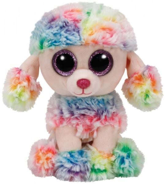 Ty Beanie Boos Poodle Puppy & Mini Key Clip Plush Soft Toy - Rainbow, 9""