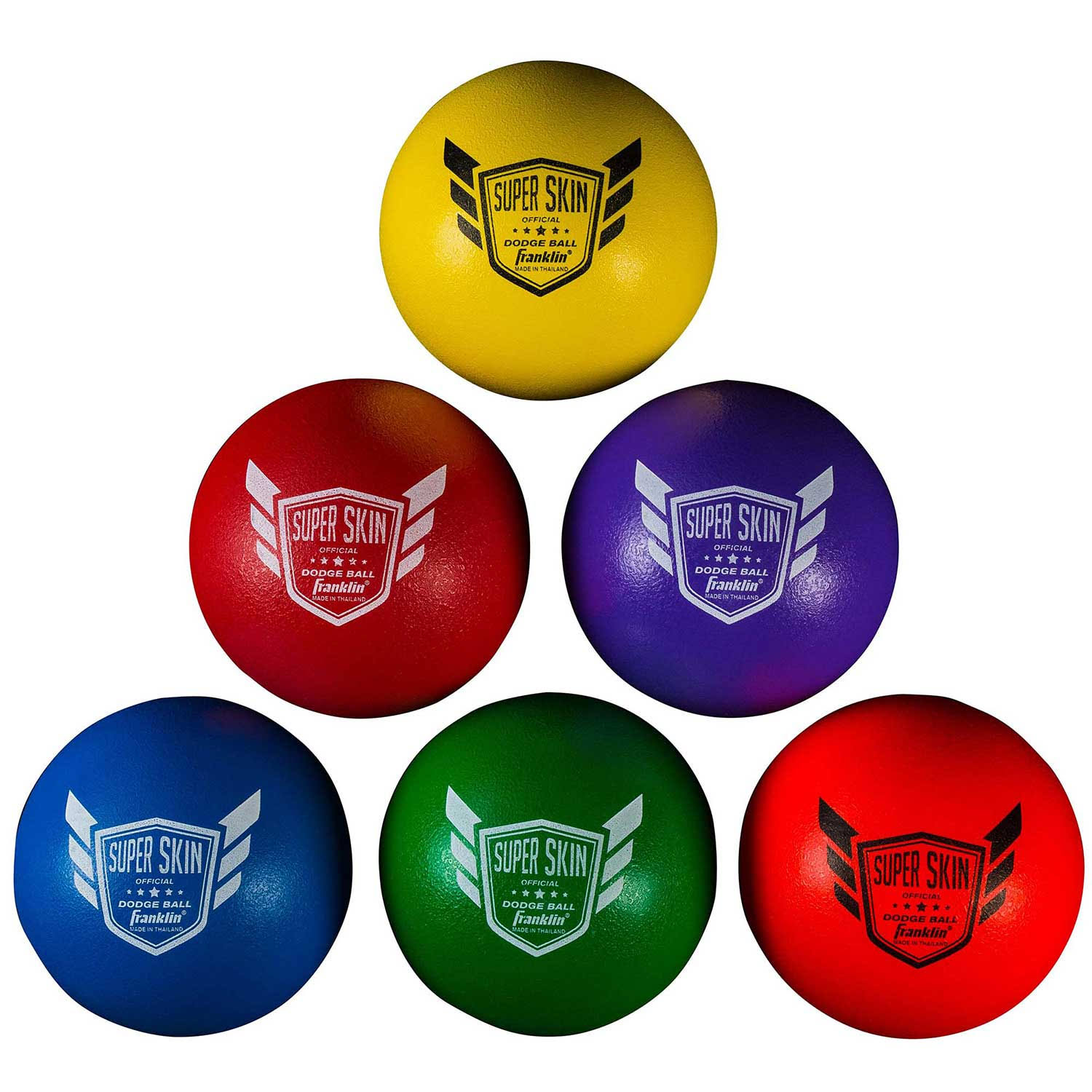 Franklin Sports Super Skin Dodge Ball - Pack of 6, 6""