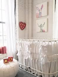 Bratt Decor Crib Skirt by Jadore Crib Cradle Distressed White