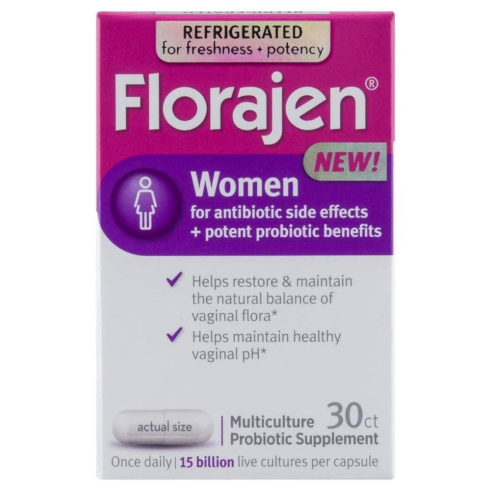 Florajen Women Multiculture Probiotic Supplement Capsules, 30 EA