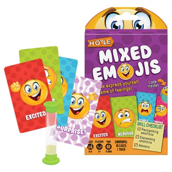 Hoyle JKR1042641 Child Card Games - Mixed Emojis