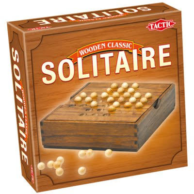 Wooden Classic Solitaire Board Game