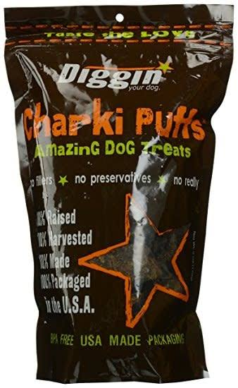 Diggin Your Dog Charki Puffs Dog Treats, 6oz