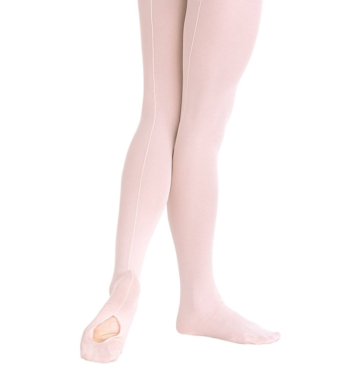 Body Wrappers A45 TotalSTRETCH Convertible Mesh Backseam Dance Tights
