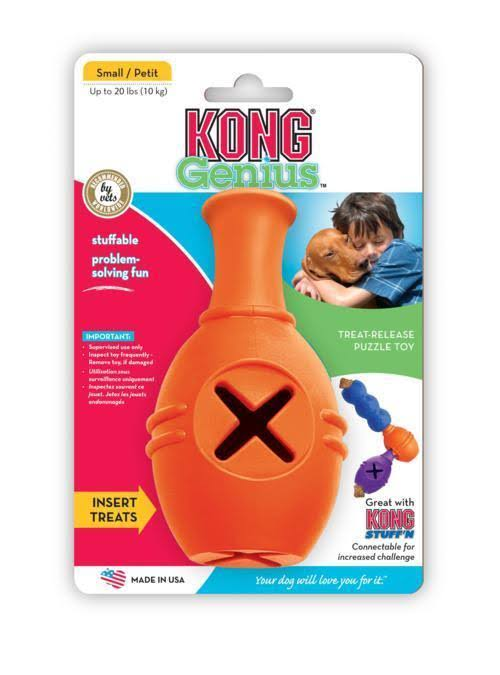 KONG Genius Leo Treat Dispensing Dog Puzzle Toy - Small, Colors Vary