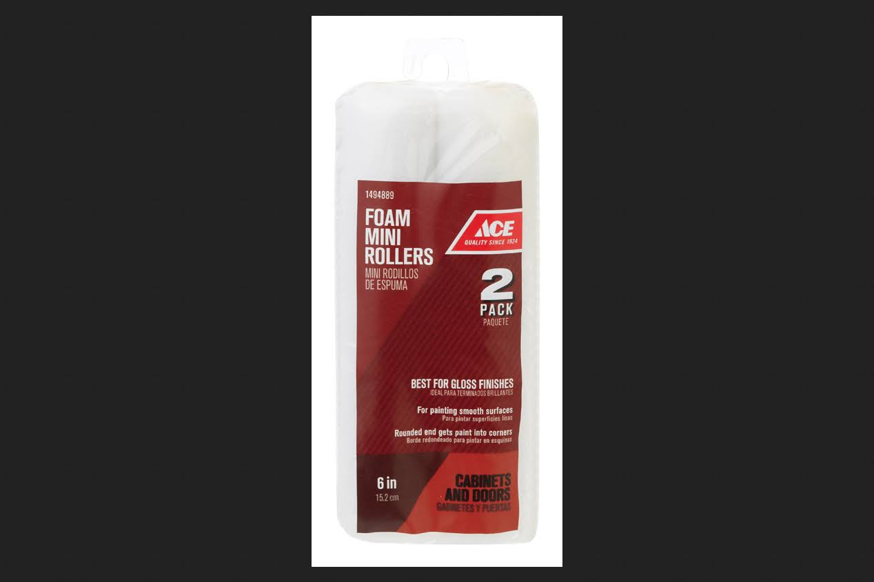 "Ace Foam Mini Rollers, 6"" - 2 Pack"