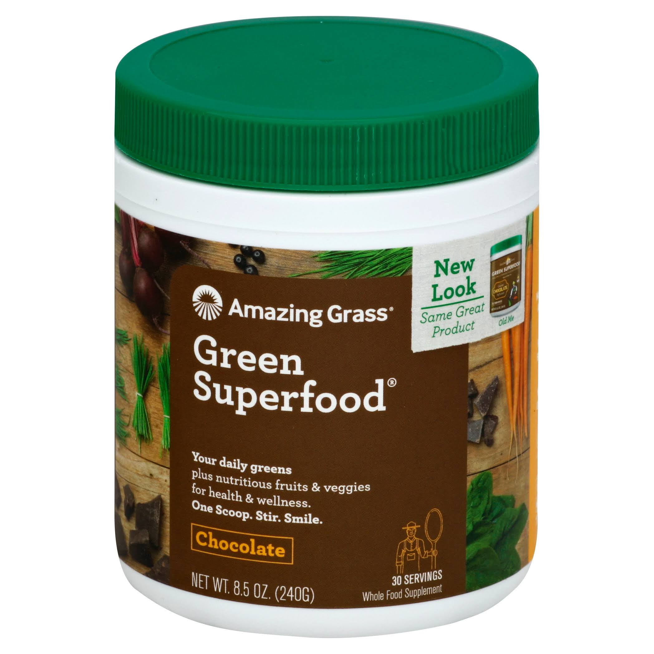 Amazing Grass Green Superfood - Cacao Chocolate Infusion, 240g