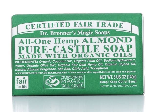 Dr. Bronner's All-One Pure-Castile Soap - Hemp Almond, 140g