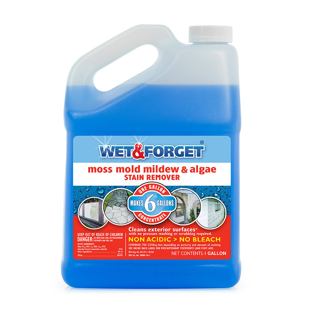 Wet & Forget Moss Mold Mildew and Algae Stain Remover - 1 Gal