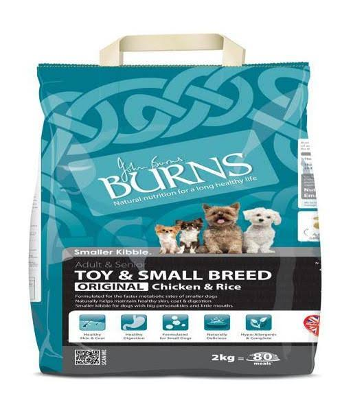 Burns Toy and Small Breed Dog Food - Chicken & Brown Rice 2Kg