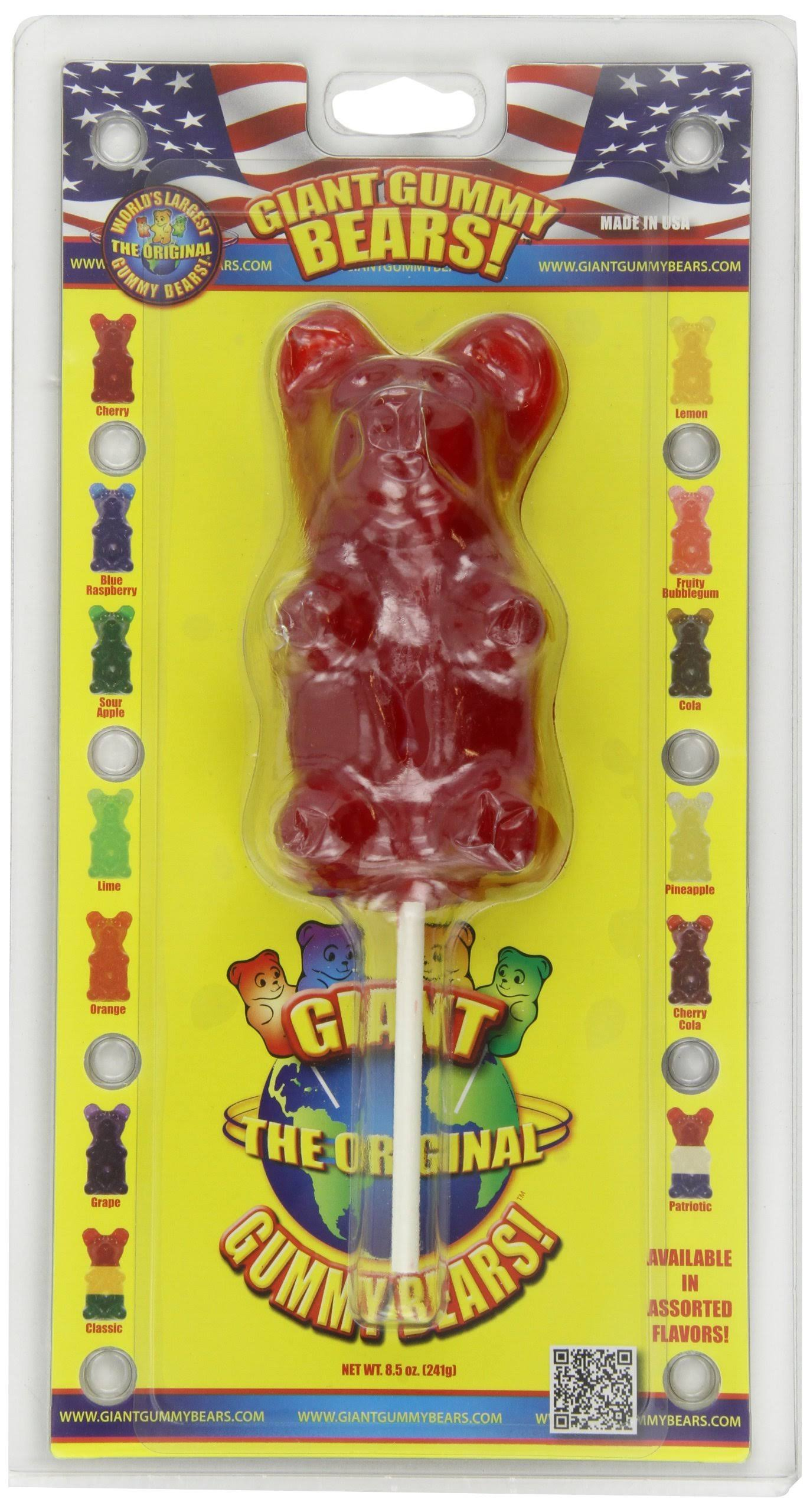 Giant Gummy Bears Candy - Cherry