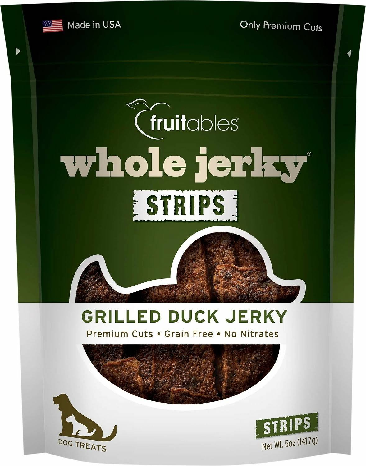 Fruitables Whole Dog Treats - Grilled Duck Jerky