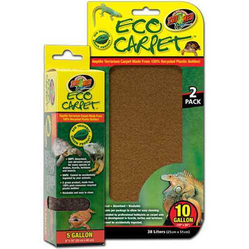 "Zoo Med Reptile Cage Carpet - for 10 Gallon Tanks, 20"" X 10"""