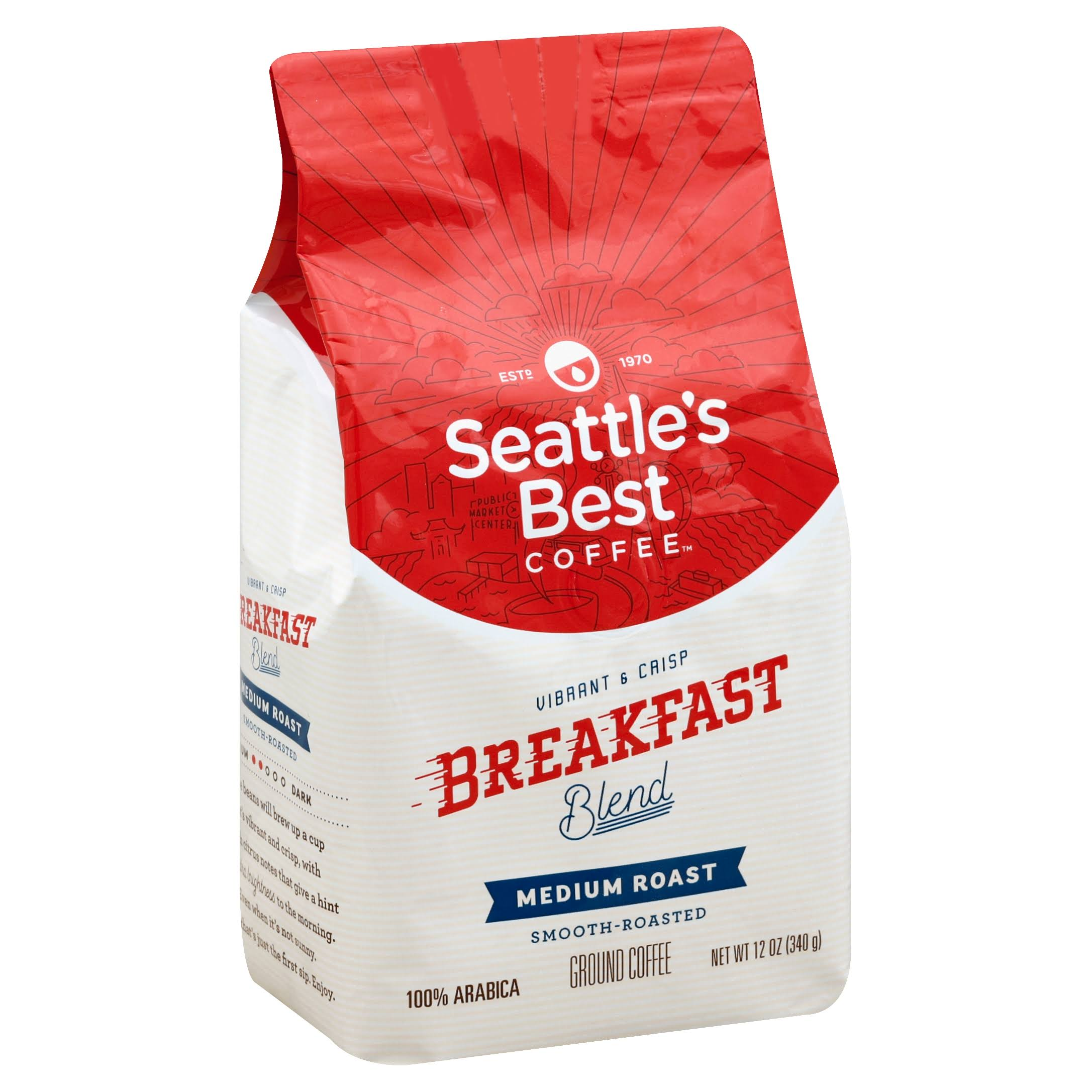 Seattle's Best Coffee Breakfast Blend Ground Coffee - 340g