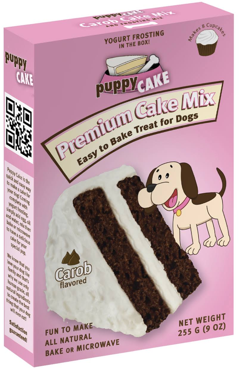 Puppy Cake Mix For Dogs and Puppies - Carob Flavor, 9oz