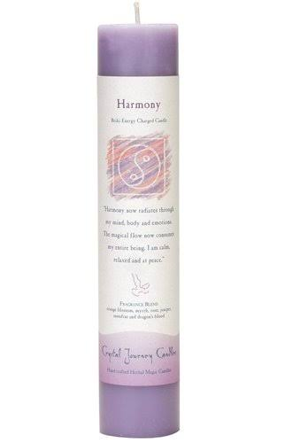 Crystal Journey Herbal Magic Reiki Charged Candle - Harmony, 7""