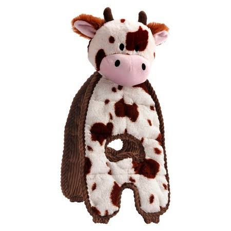 Charming Pet Cuddle Tugs Pet Squeak Toy - Cow