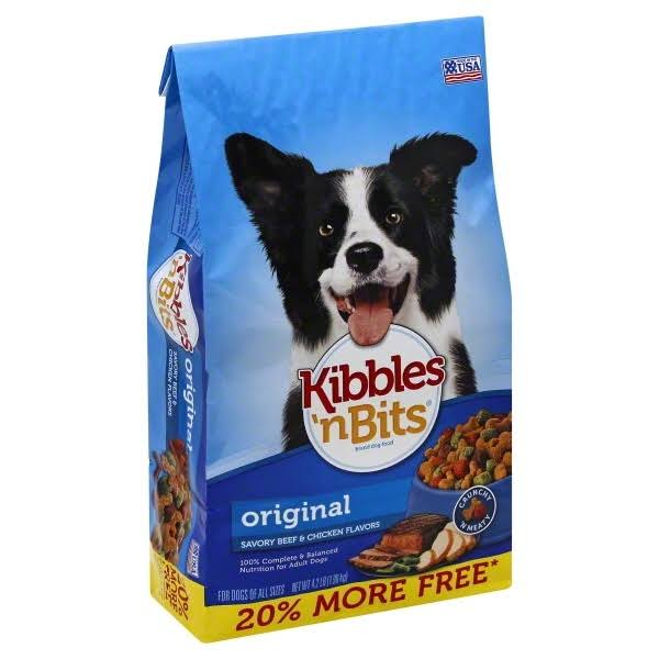 Kibbles N Bits Savory Beef and Chicken Flavor Original Dog Food - 4.2lbs