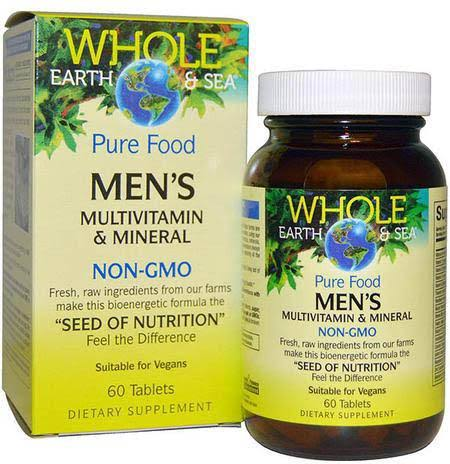 Whole Earth & Sea Men's Multivitamin & Mineral - 60 Tablets