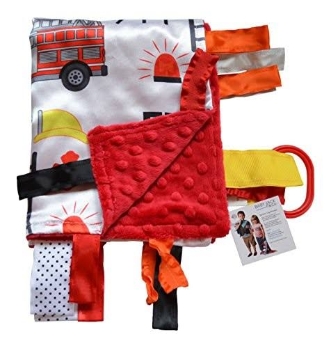 Sensory Baby Tag Blanket, Fire Fighter, Fire Rescue Squad Blanket
