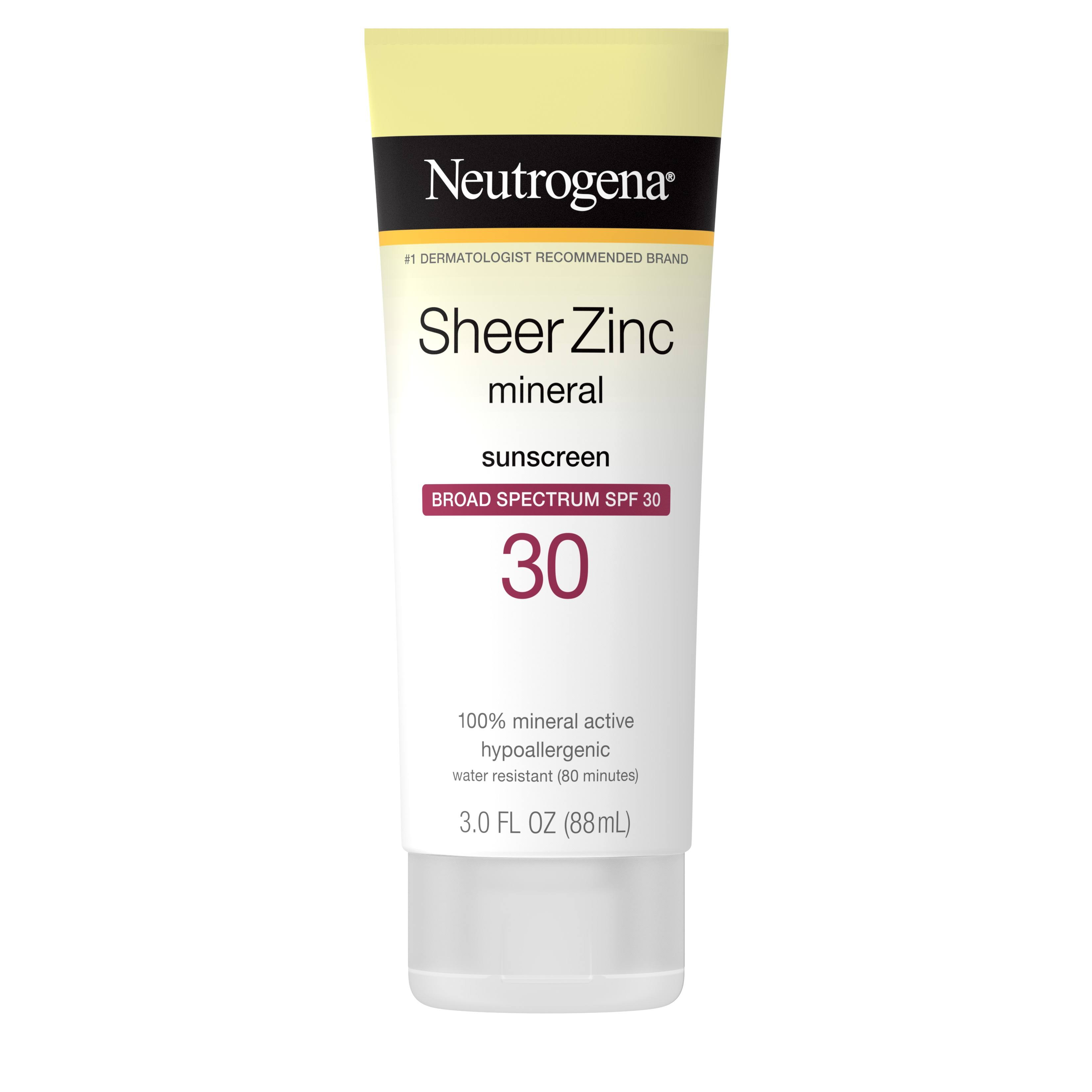 Neutrogena Sheer Zinc Dry Touch Sunscreen - SPF30, 88ml