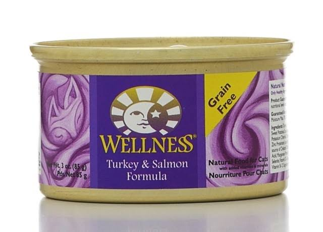 Wellness Adult Cat Wet Food - Turkey & Salmon, 3oz