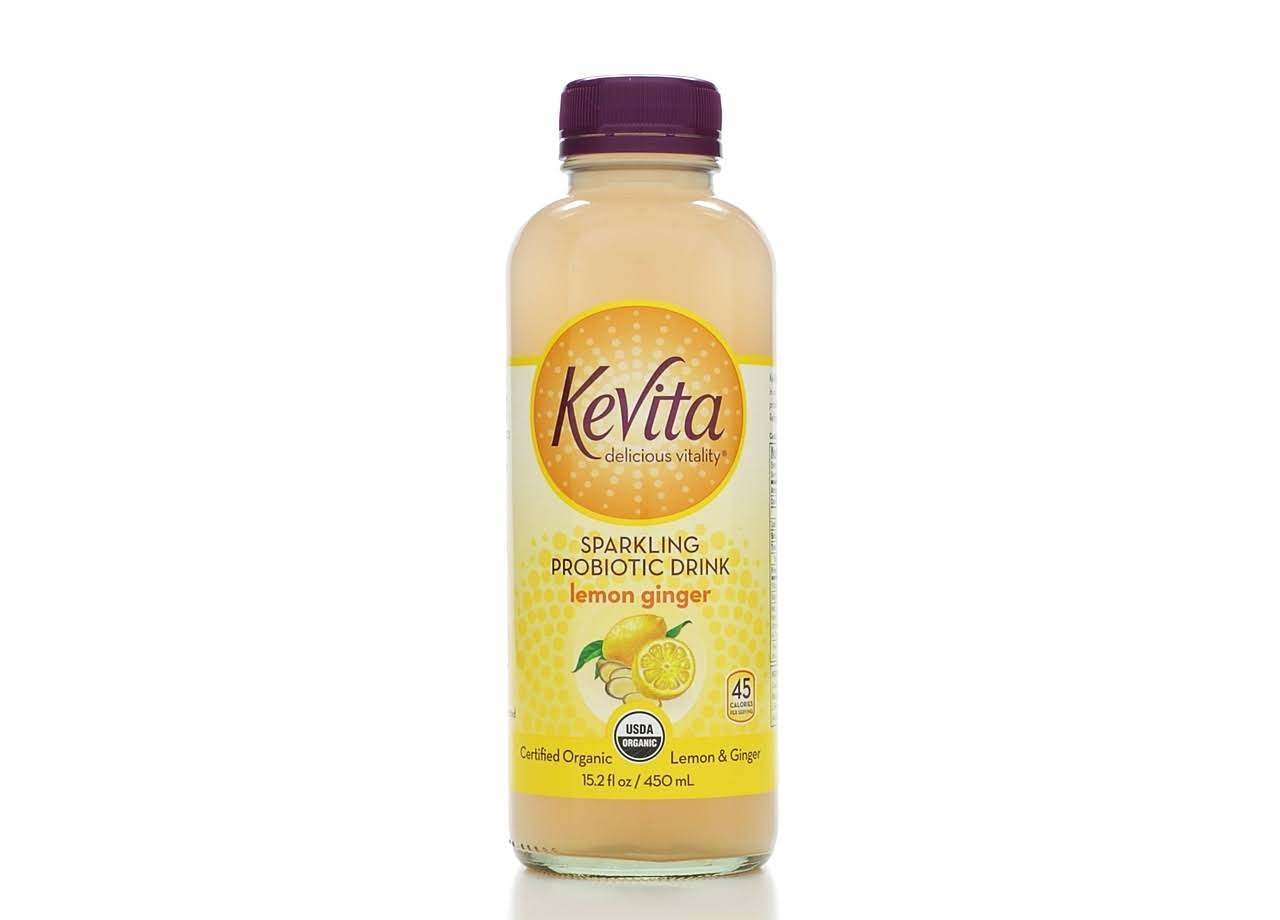 KeVita Sparkling Probiotic Drink - Lemon Ginger, 15.2oz