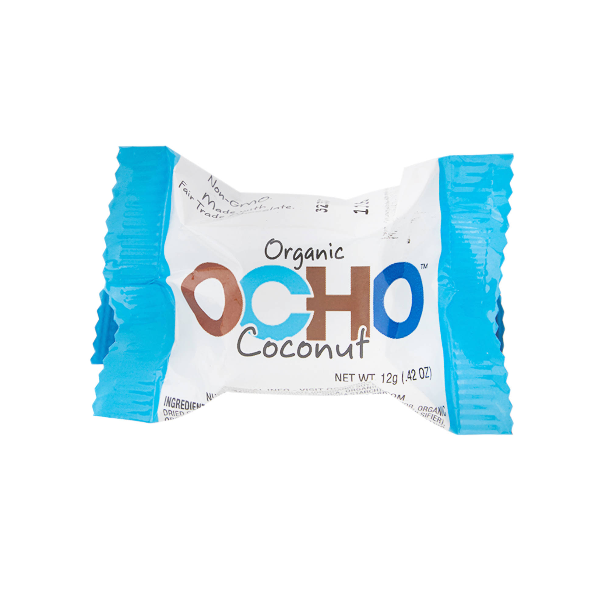 Ocho Organic Candy, Coconut - 0.42 oz packet